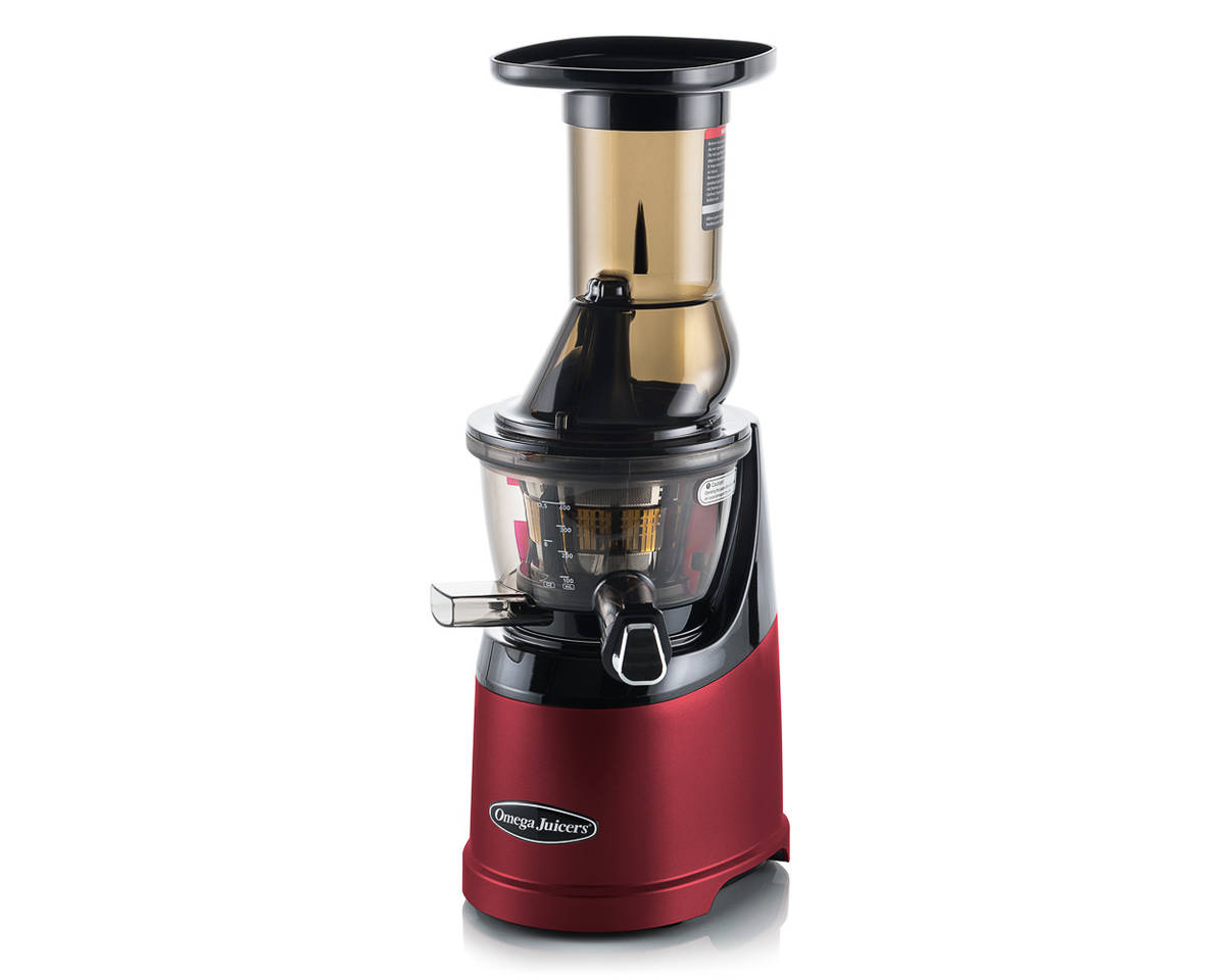 Omega MMV-702 MegaMouth vertical juicer red